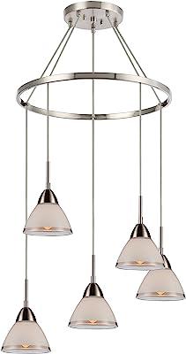 Woodbridge Lighting 13246STNLE-C60601 Chandelier, Nickel