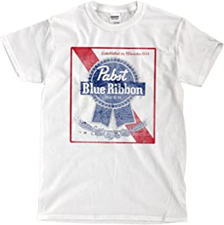 Danielrio Men&Youth Pabst Blue Ribbon Funny T-Shirt White