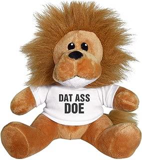 Customized Girl Dat Ass Doe Valentine Gift Lion: 8 Inch Lion Stuffed Animal