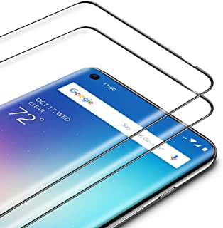 TAMOWA skärmskydd för OnePlus 8, 2-pack, 3D premium härdat glas 9H skyddande okrossbar film, anti-repor, anti-olja, anti-b...