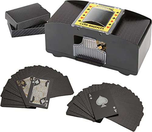 new arrival BENBOR 2 Deck Automatic Card Shuffler, Poker Card Shuffler with 2 Deck Playing Card, Battery Operated Electric Poker Shuffling Machine for UNO, Texas wholesale outlet sale Hold'em, Poker, Home Card Games, Blackjack online sale
