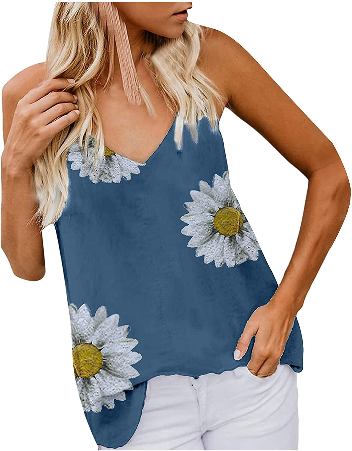 AODONG Tank Tops for Women, Womens Fashion Summer Casual Vacation Sleeveless Graphic Vest Tops Tee Shirts Blouse Tops