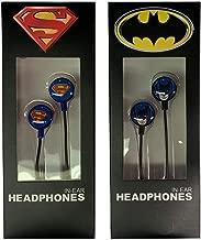 Superman & Batman in-Ear Headphones, DC Comic Gift Set, Bioworld