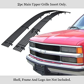 APS Compatible with 88-93 Chevy C K Pickup 92-93 Suburban Blazer Stainless Black Billet Grille C85245J
