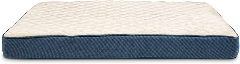 Doctors Foster + Smith Orthopedic Lounger Dog Bed in Navy