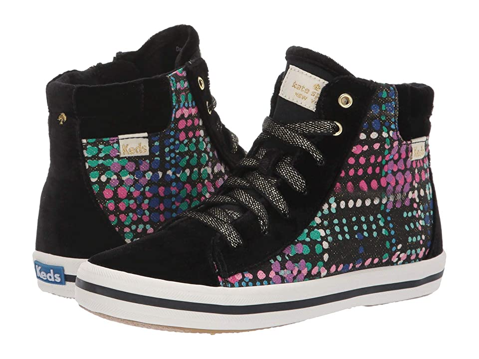 Keds x kate spade new york Kids Double Up High Top (Little Kid/Big Kid) (Dotty Plaid Velvet) Girl