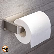 YIGII Toilet Paper Holder Adhesive - 3M Self Adhesive Toilet Tissue Holder for Toilet Roll Bathroom Stick on Wall Stainles...