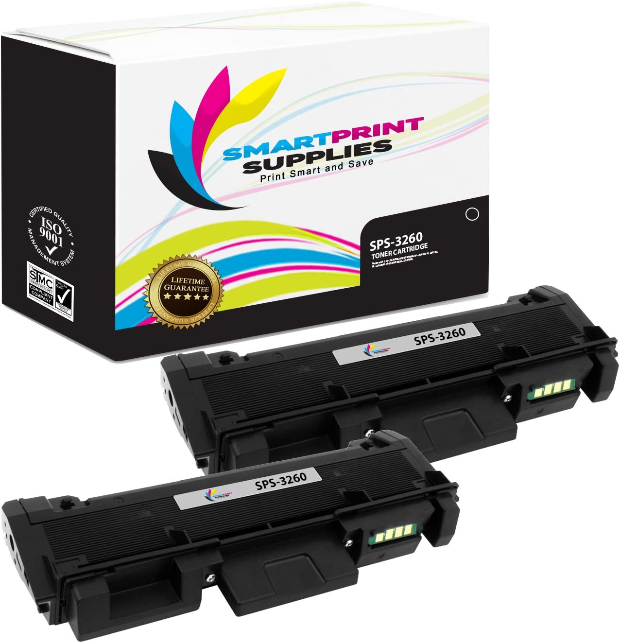 Smart Print Supplies Compatible 106R02777 Black Toner Cartridge Replacement for Xerox Phaser 3260, Workcentre 3215 3225 Printers (3,000 Pages) - 2 Pack