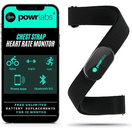 Powr Labs Heart Rate Monitor Chest Strap - ANT + Bluetooth Chest Heart Rate Monitor with Chest Strap - HRM Run Bike Cycling - Chest Strap Heart Monitor for Strava Zwift Wahoo Garmin Polar Peloton