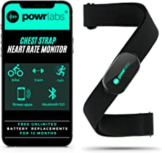 Powr Labs Heart Rate Monitor Chest Strap - ANT + Bluetooth Chest Heart Rate Monitor with Chest Strap - HRM Run Bike Cyclin...