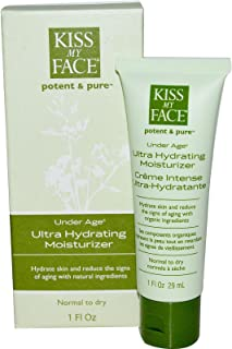 Kiss My Face Kiss my face potent & pure complete facial care system under age ultra hydrating moisturizer 1 fl. oz. moisturizers (a)