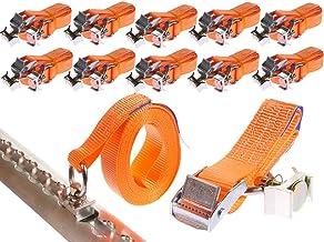 10 x 250 daN kg 5 m Sjorband met vergrendeling en fitting voor airline rails klemslot met eindbeslag spanbanden tweedelig