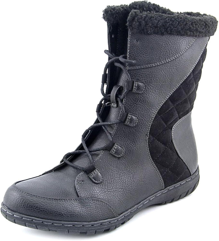 Naturalizer Womens Romano Leather Closed Toe Mid-Calf Cold, Black, Size 8.0