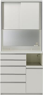 パモウナ 食器棚WG パールホワイト 幅100×高さ214×奥行45 日本製 WGR-S1000R