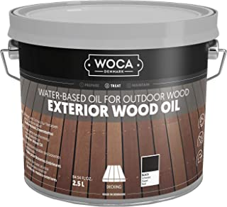 WOCA Denmark - Environmentally Friendly Exterior Wood Oil - Water-Based Oil for Outdoor Wood (Black)