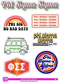 Phi Sigma Sigma - Sticker Sheet - Retro Theme
