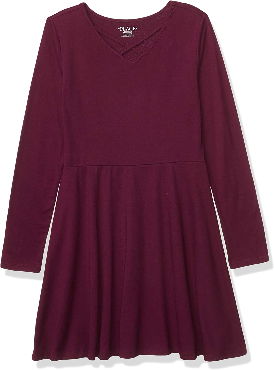 The Children's Place Girls' Solid Big Import Pleated Dresses Free shipping