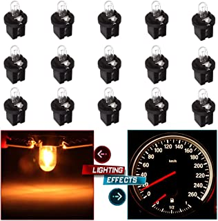 cciyu 15X White Halogen Bulb Replacement fit for Mercedes R129 W140 W170 W202 W210 Instrument Cluster/509t T5 Twist Halogen Light Bulbs Replacement fit for Instrument panel Gauge Cluster Speedometer