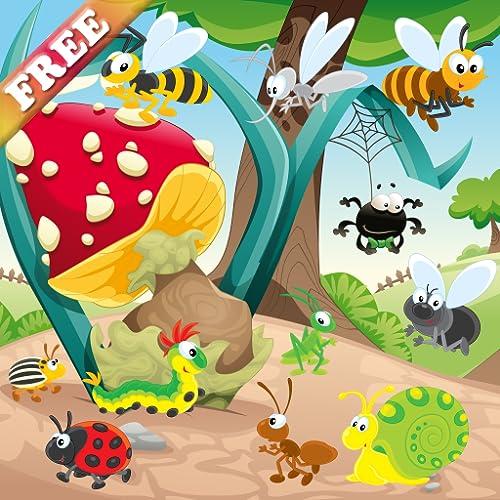 Insekten und Würmer Spiel für Kinder : Entdecken Sie die Welt der Insekten ! Spiele für Kleinkinder KOSTENLOS