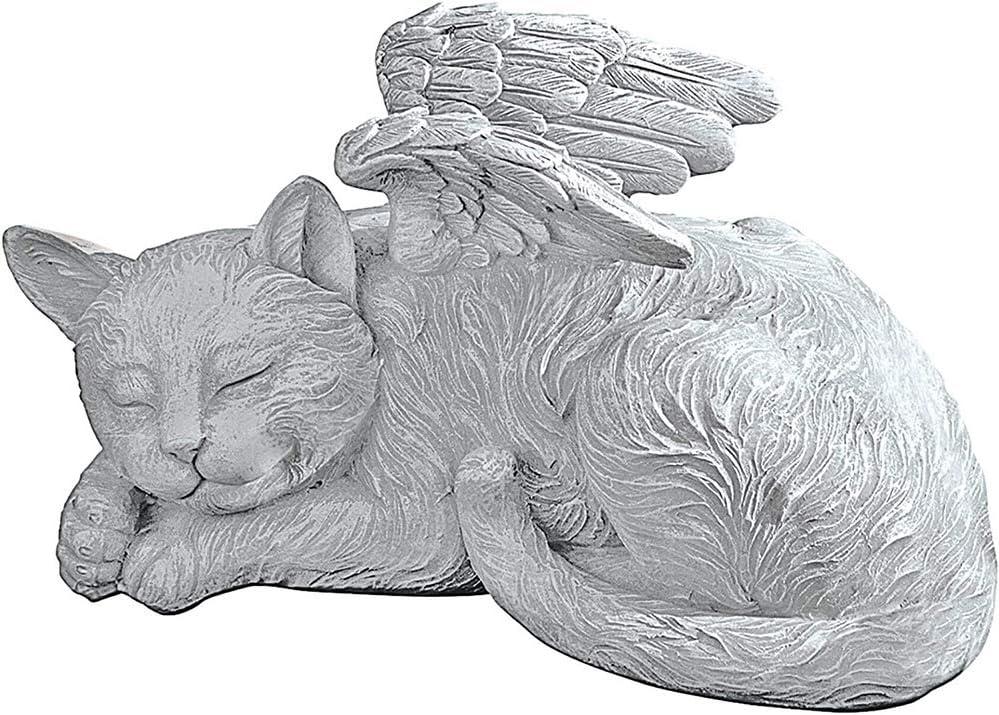 Gato Adorno de jard/ín Estatua de Homenaje con Marcador de Tumba Conmemorativa para Dormir Perro // Gato en Resina de ala de /ángel 1//2 Piezas Nueva Estatua Creativa de /ángel para Mascotas