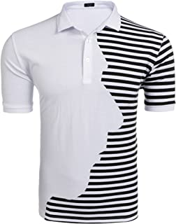 Men's Quick Dry Golf Polo Shirt Classic Fit Short Sleeve Sports T-Shirts