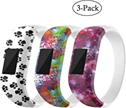 for Garmin Vivofit JR Bands, Cute Cartoon Soft Silicone Replacement Band Wristbands Bracelet Straps Accessory Fit Garmin Vivofit 3/ Vivofit JR/Vivofit JR 2 for Kids (Small, White Green Purple)