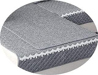 sensitives Solid Color Sofa Cover Sofa Towel Cushion Cotton Linen Fabric Couch case for Different Shape Sofa Set,A,90x240cm 1pcs