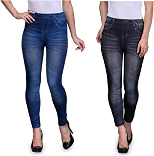 Fifty 55 Five Women's Slim Fit Jegging (Pack of 2)