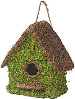LIVEONCE Bird House Triangle in Coir (No Moss and Thread only House) for Cage All Birds Love Birds,Budgies,Finches and Dec...