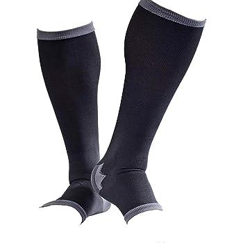 男性専用 脚すっきり対策オープントゥ メンズ 着圧ソックス 膝下 L 順天堂大学客員教授推奨