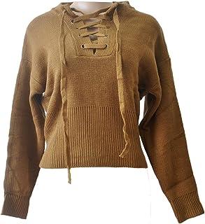 GGTFA Las Mujeres En V Profundo Sudadera Puente De Punto De Jersey Suéter De La Parte Superior De Los Géneros De Punto
