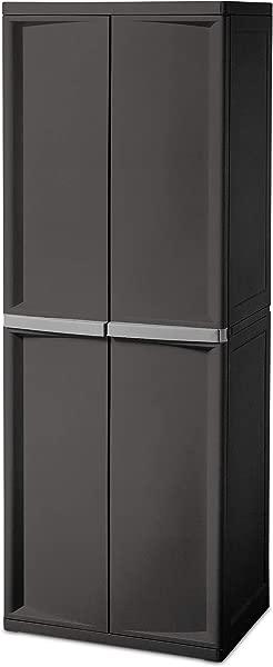 Sterilite 01423V01 4 Shelf Cabinet Flat Gray 1 Pack