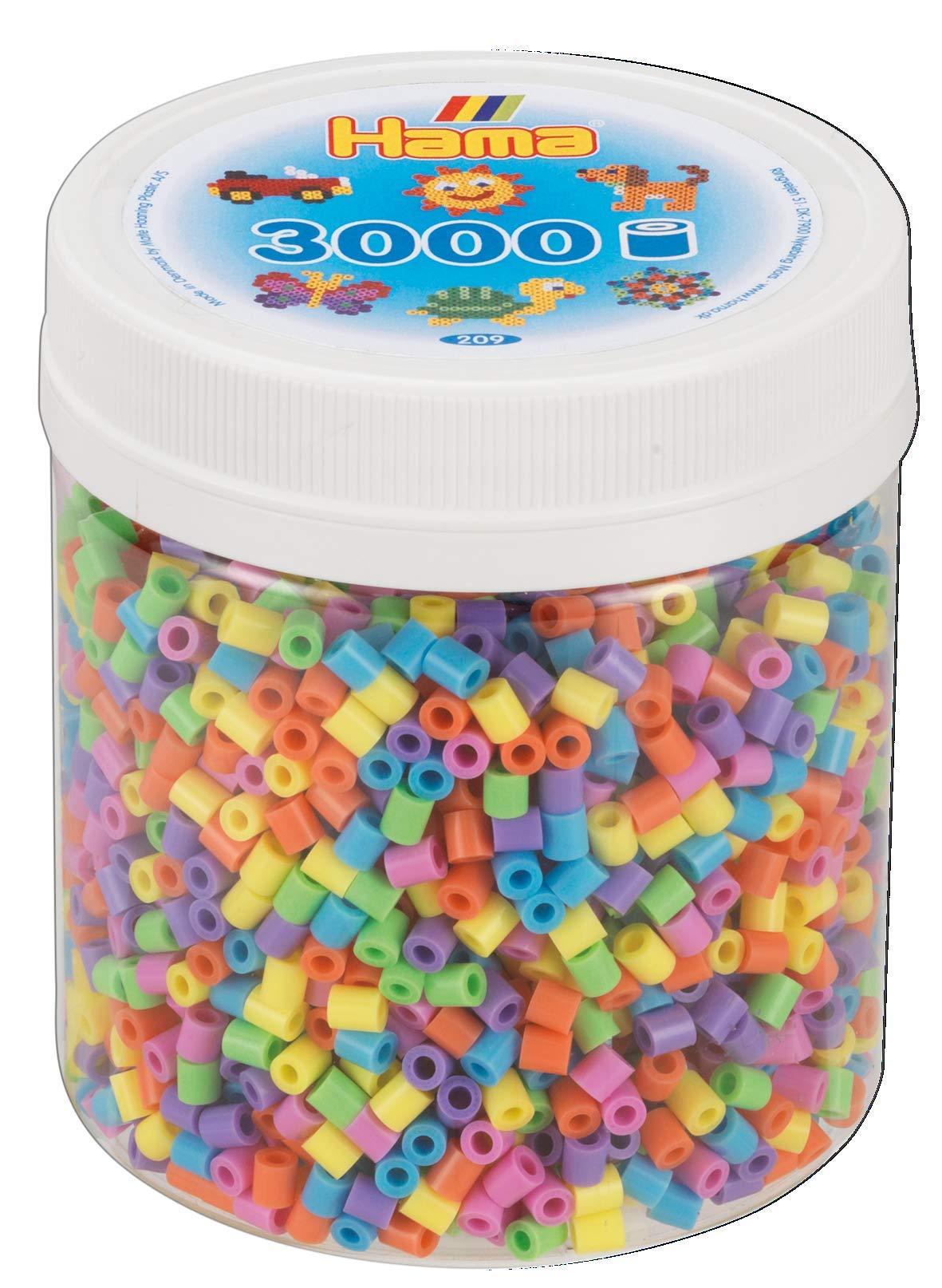 Hama 10.209-50 3.000 Midi Beads - Mosaico Mezcla Pastel, Talla única: Amazon.es: Juguetes y juegos