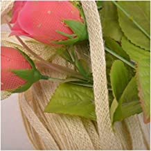 Xpwoz 10mm5M Kleurrijke linnen touw cadeau inpakken Rope Wedding En Feestartikelen (Color : Beige)