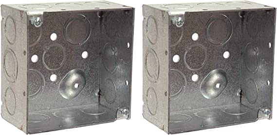 4 in Dia L X 4 in W X 2-1//8 in D 30.3 Cu-in product specific 4 Hubbell 8233 Raco Square Box