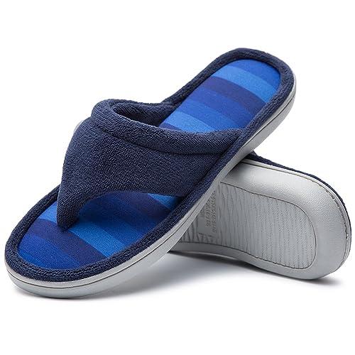 fd5bb414e46 Cozy Niche Ladies  Microfiber Gradational Color Knit Thong Slippers