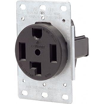 Leviton 071 00278 000 4 Wire 30 Amp 250 Volt Flush Mount Dryer Receptacle Range Plug Receptacles Amazon Com