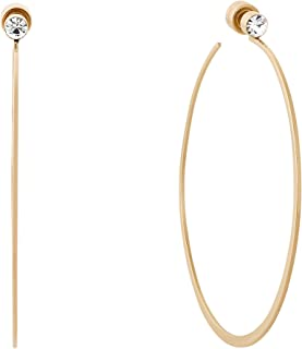Michael Kor's Women's Stainless Steel Hoop Earrings