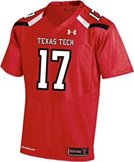 Large Under Armour NCAA Texas Tech Red Raiders FG205071A13 Childrens Official Sideline Jersey Black