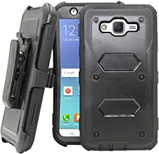 Galaxy J7 Neo J701M /J7 Nxt J701F /J7 Core J701 Case, Telegaming Hybrid Rugged Heavy Duty Shock Absorption Case With Belt Swivel Clip Kickstand Holster For Samsung Galaxy J7 Neo / J7 Core Duos Black