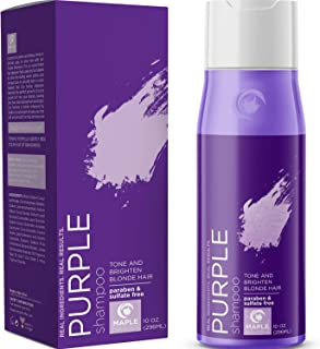 Purple Shampoo for Blonde Hair Toner - Sulfate Free Shampoo for Color Treated Hair plus Keratin Hair Treatment for Dry Dam...