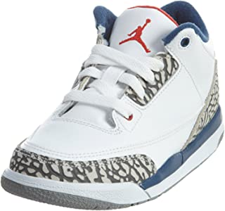 ded34675c1fb72 Jordan Kids Retro 3 (Ps) Dark Powder Blue White-Black 429487-