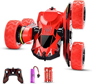 Seckton RC Stunt Car Toys Remote Control Car for 6-12 Year Old Girls RC Cars 360 Degree Flips Double Sided Rotating 4WD 2....