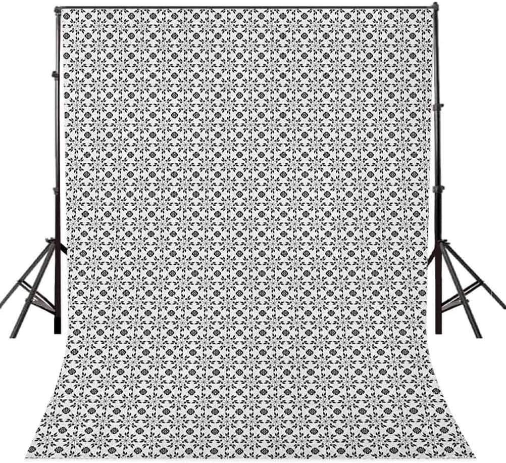 8x12 FT Zodiac Aries Vinyl Photography Backdrop,Rams Head in Henna Mehndi Tattoo Style Doodle with Curly Artwork Background for Baby Birthday Party Wedding Studio Props Photography