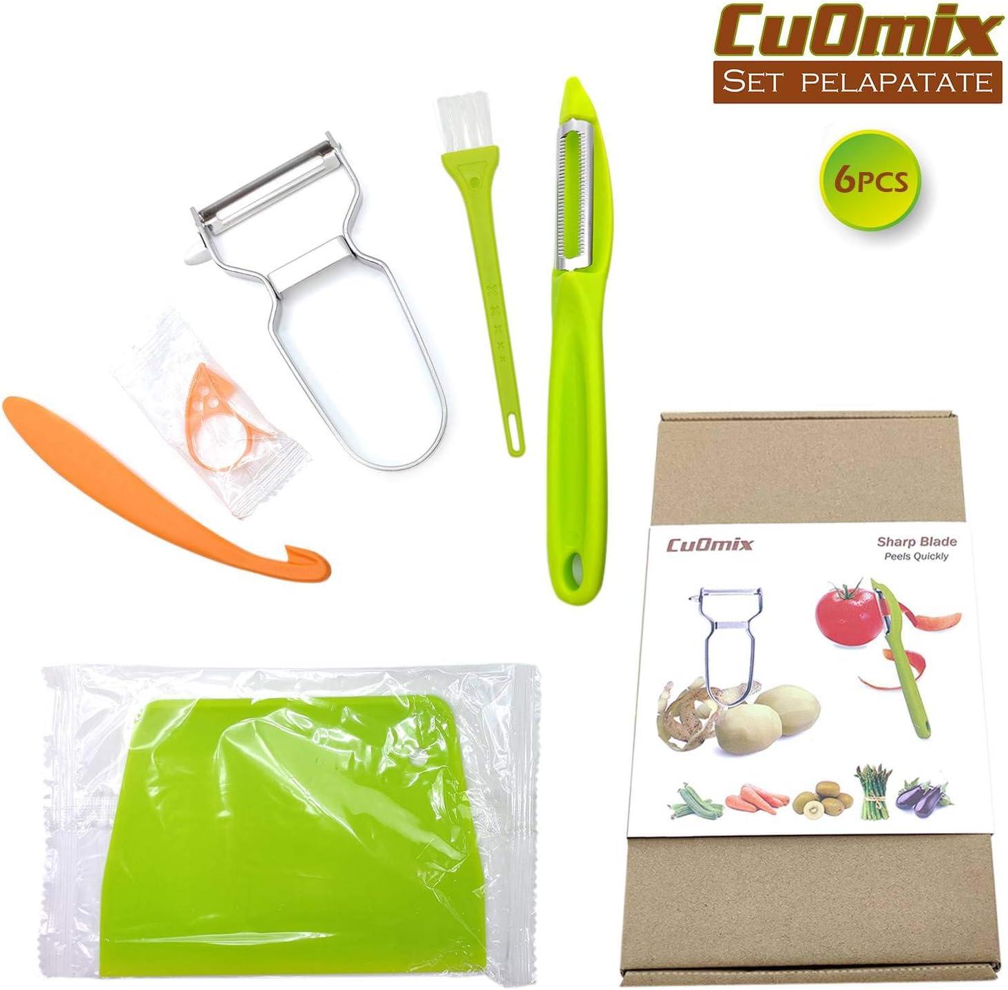 CuOmix Pelapatate sbucciatore di Arance Set Sbucciatore Pelapatate Verdure e Frutta pelapomodoro//-Kiwi