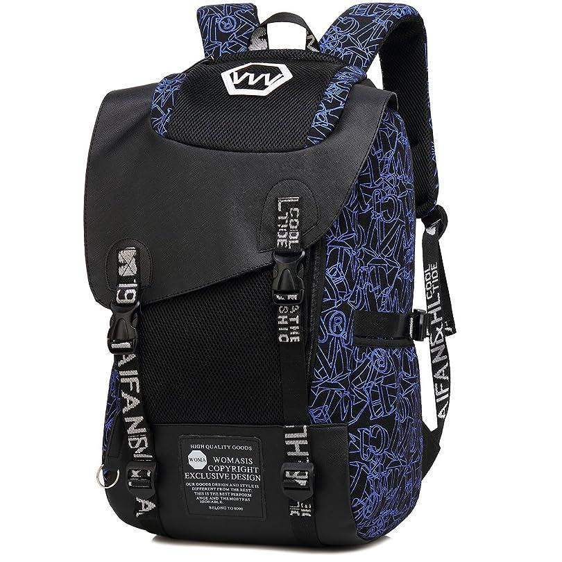 歴史表面逃げる大容量リュックサックのバックパックの男性と女性のアウトドアトラベルバッグコンピュータバッグレジャー旅行ファッション高校の学生スクールバッグ
