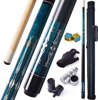 Leshang Billiard Pool Cue Canadian Maple Billiard Pool Cue Stick 18-21 OZ