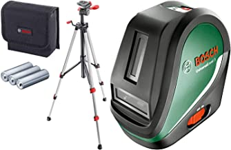 Bosch Self-Levelling Cross Line Laser Set UniversalLevel 3 (Tripod, Bag, 3 x AA Batteries Included, in Box)