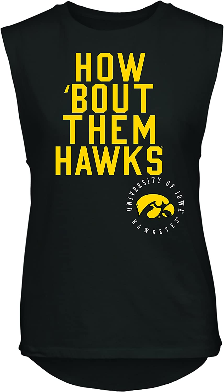 Camp David NCAA Rocker Womens Sleeveless Drop Tail Tank