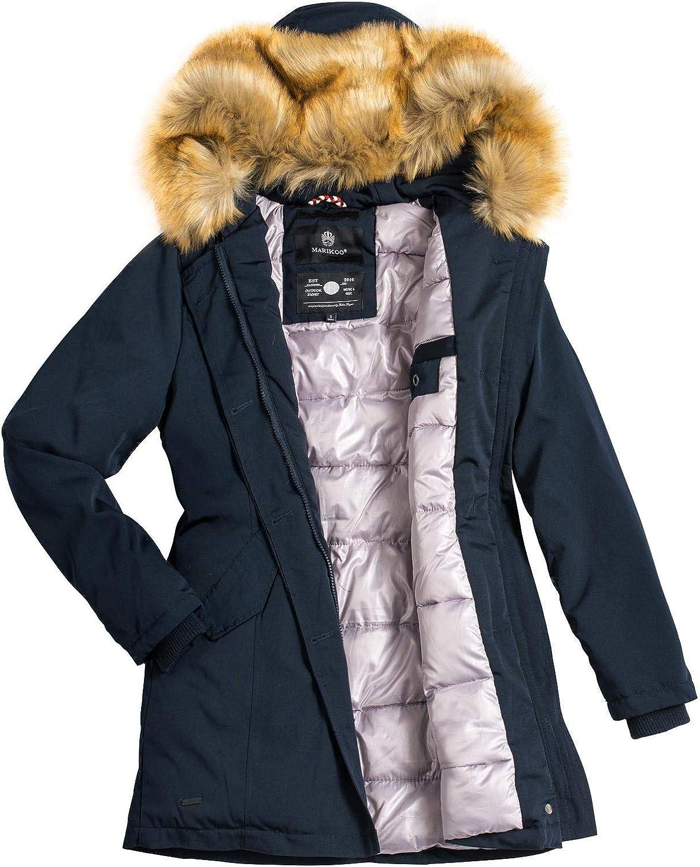 Marikoo Damen Winter Mantel Winterparka Karmaa XS-5XL Creme Off White